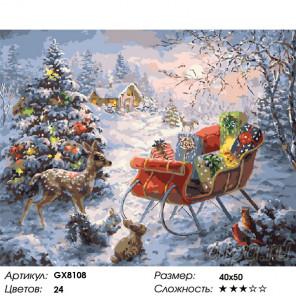 Подарки у ёлки Раскраска картина по номерам на холсте GX8108