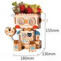 Робот Цветочный горшок 3Д пазл