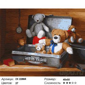 Сложность и количество цветов Игрушки Раскраска картина по номерам на холсте ZX 22884