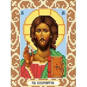 Пример оформления в рамку Господь Вседержитель Ткань для вышивания с нанесенным рисунком Божья коровка 0070