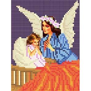 Пример оформления в рамку Ангел Ткань для вышивания с нанесенным рисунком Божья коровка 0075
