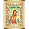 Пример оформления в рамку Архангел Михаил Ткань для вышивания с нанесенным рисунком Божья коровка 0096
