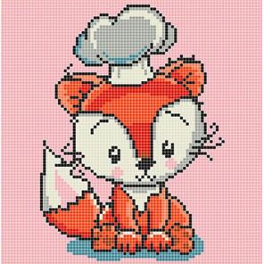 Лисичка Ткань для вышивания с нанесенным рисунком Божья коровка 0105
