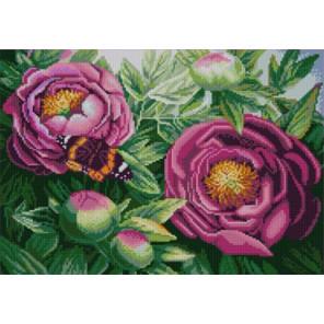 Цветы из сада Ткань с нанесенным рисунком для вышивки бисером Конек 1278