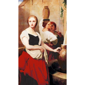 Маргарита у фонтана (А. Шеффер) Ткань с нанесенным рисунком для вышивки бисером Конек 8472