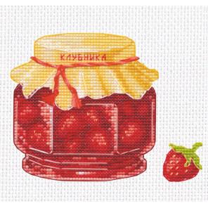 Пример в рамке Клубничное варенье Набор для вышивания Овен 1230