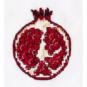 Гранат Набор для вышивания на водорастворимой канве Овен 1235
