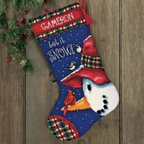 Сапожок, Снеговик как жердочка Набор для вышивания Гобелен Dimensions ( Дименшенс )