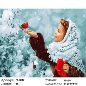 В пуховом платке Раскраска картина по номерам на холсте PK16031