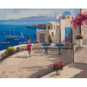 Терраса на побережье Раскраска картина по номерам на холсте Z-GX29449