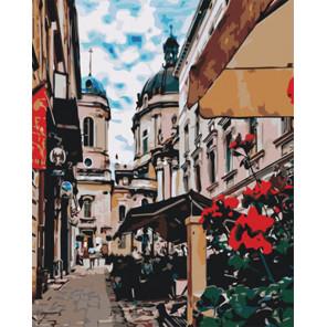Улица с кафе Раскраска картина по номерам на холсте Z-GX29486