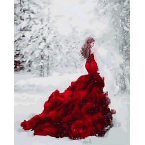 Огненное платье Раскраска картина по номерам на холсте Z-GX31189