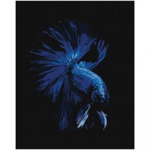 Сапфировая рыбка 80х100 Раскраска картина по номерам на холсте