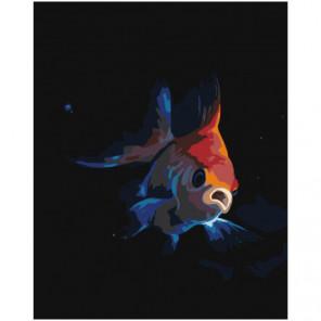 Золотая рыбка Раскраска картина по номерам на холсте