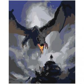 Дракон 100х125 Раскраска картина по номерам на холсте