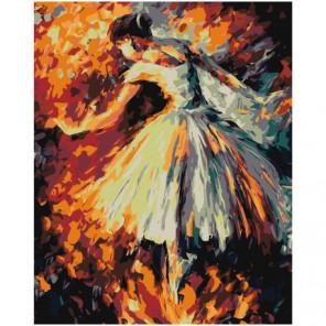 Балерина 100х125 Раскраска картина по номерам на холсте