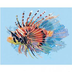 Экзотическая рыбка 80х100 Раскраска картина по номерам на холсте