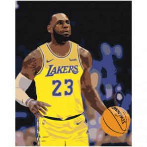 LA Lakers 80х100 Раскраска картина по номерам на холсте