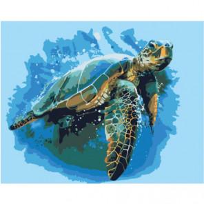 Морская черепаха 100х125 Раскраска картина по номерам на холсте