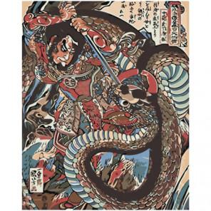 Японская живопись 100х125 Раскраска картина по номерам на холсте