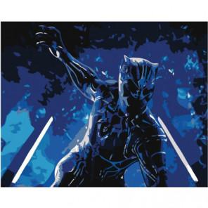 Чёрная Пантера 80х100 Раскраска картина по номерам на холсте