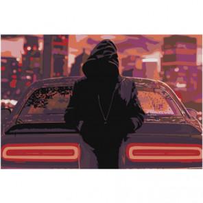 Драйв Раскраска картина по номерам на холсте