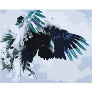 Атакующий орел Раскраска картина по номерам на холсте