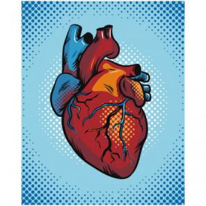 Сердце клип арт 80х100 Раскраска картина по номерам на холсте
