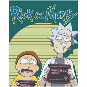 Комикс Рик и Морти 80х100 Раскраска картина по номерам на холсте