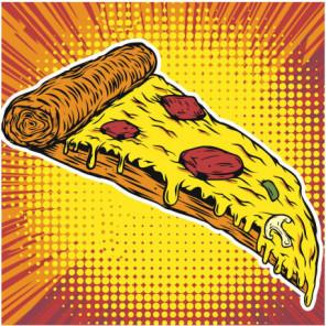 Пицца ассорти 80х80 Раскраска картина по номерам на холсте