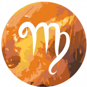 Знак Зодиака Дева 80х80 Раскраска картина по номерам на холсте
