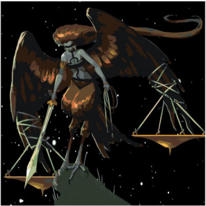Знак зодиака Весы Раскраска картина по номерам на холсте