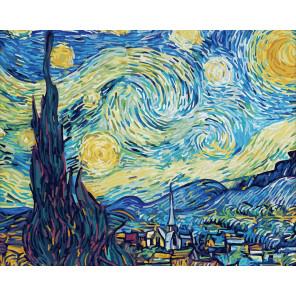 Звездная ночь. Винсент Ван Гог Раскраска картина по номерам Schipper (Германия) 9130816