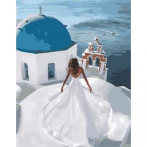 Невеста в Греции Раскраска картина по номерам на холсте