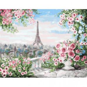 Вид из парижского сада Раскраска картина по номерам на холсте