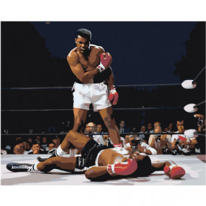 Бокс. Мухаммед Али на ринге 100х125 Раскраска картина по номерам на холсте