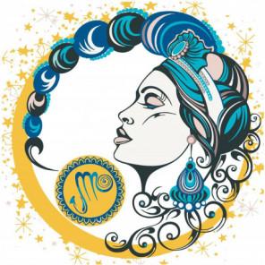 Девушка скорпион, знак зодиака 80х80 Раскраска картина по номерам на холсте
