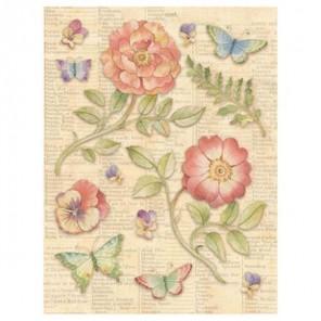 Цветы и бабочки Стикеры для скрапбукинга K&Company