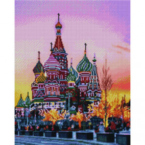 Храм Василия Блаженного Алмазная мозаика вышивка Painting Diamond