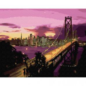 Утренний Сан-Франциско Раскраска картина по номерам на холсте