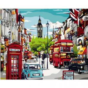 Улица Лондона, Биг Бен Раскраска картина по номерам на холсте