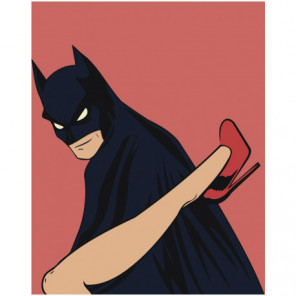 Бэтмен и женщина 80х100 Раскраска картина по номерам на холсте