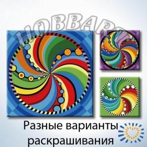 Мандала 026 Раскраска по номерам акриловыми красками на холсте Hobbart