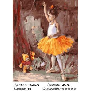 Сложность и количество цветов Юная балерина Раскраска картина по номерам на холсте PK22072