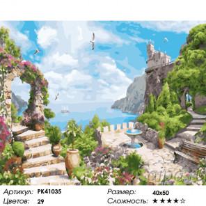Сложность и количество красок Райское место в Крыму Раскраска картина по номерам на холсте PK41035