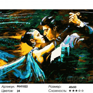 Сложность и количество красок Мгновение танца Раскраска картина по номерам на холсте PK41022