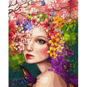 Весенняя фея Раскраска картина по номерам на холсте Z-GX31965