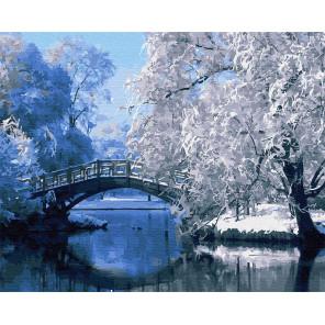 Зимний мостик Раскраска картина по номерам на холсте Z-GX30823