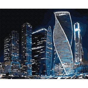 Москва Сити Раскраска картина по номерам на холсте Z-GX31072