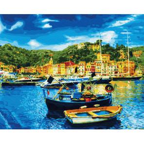 Средиземноморский причал Раскраска картина по номерам на холсте Z-GX31066